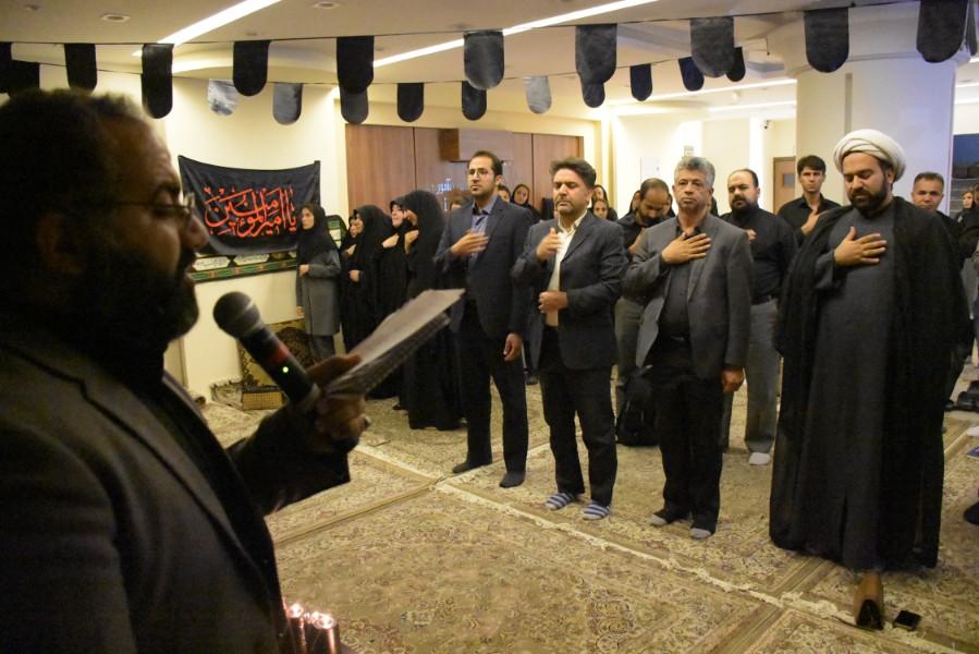 اقامه عزای حسینی در موسسه آموزش عالی زند